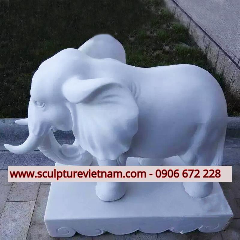 tượng voi đá