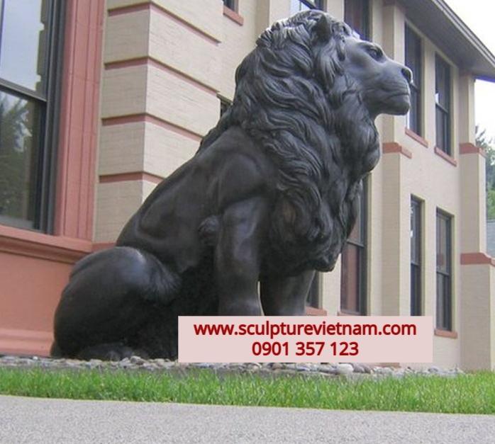 tượng sư tử bằng đồng