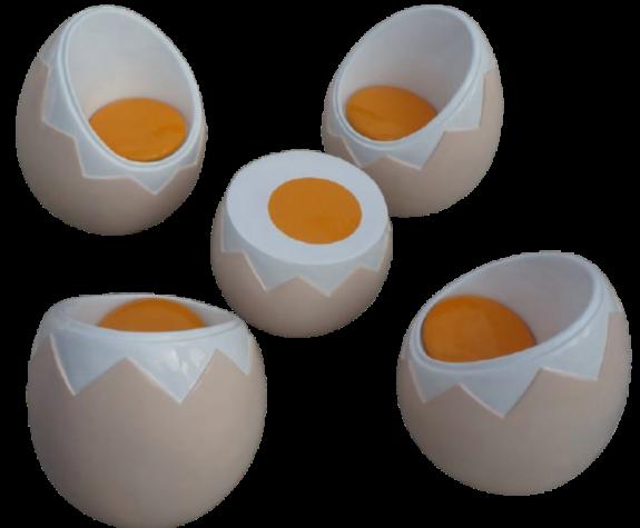 Bàn ghế bằng composite cao cấp hình trứng đáng yêu