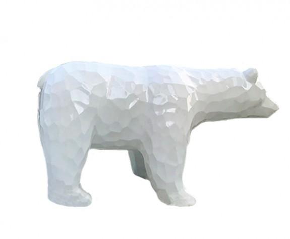 Điêu khắc động vật tượng gấu bắc cực bằng eps