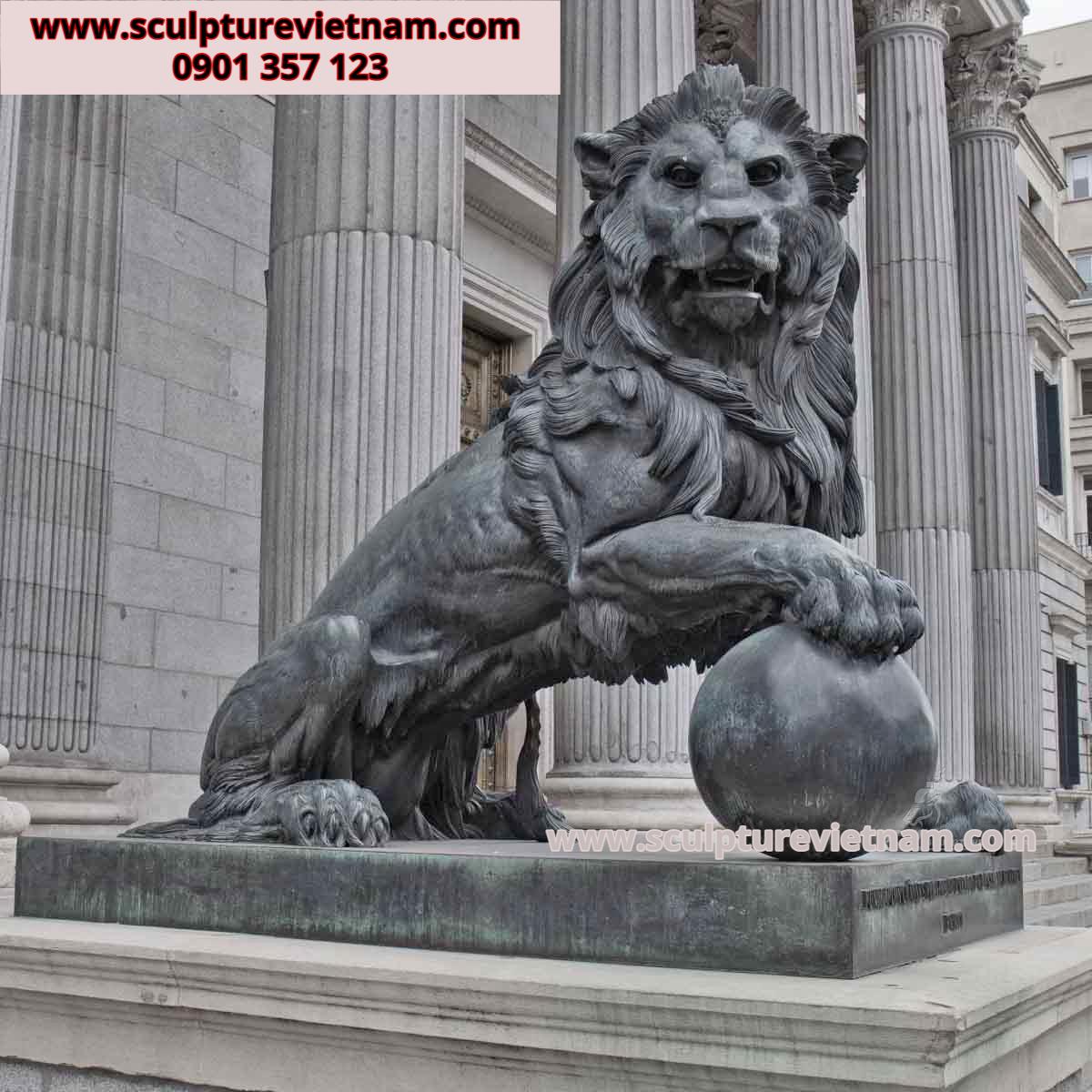 điêu khắc đầu sư tử