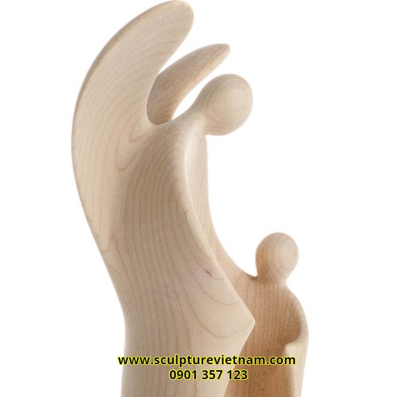 nhận điêu khắc tượng gỗ